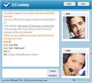 Live chat funksjon i hjemmesidene dine