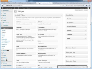 Oppsett av Widgets i WordPress